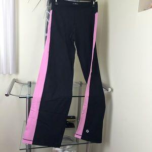 Lululemon Groove Flare Wide Leg Pink Sides Yoga